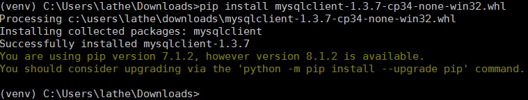 pip install mysqlclient